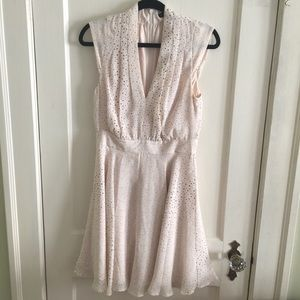 French Connection polka dot blush summer dress